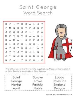Saint George Printables Packet (Sample)