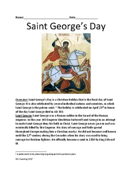 Saint George's Day - Holiday Saint George April 23rd or Ma