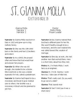 Saint Gianna Molla: Readers Theater Skit: A Play About a Catholic Saint