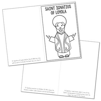 Saint Ignatius of Loyola Biography Mini Book in 3 Formats, Catholic Resource