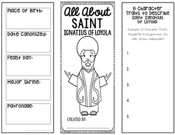 Saint Ignatius of Loyola Research Project w/ Interactive Notebook Pocket