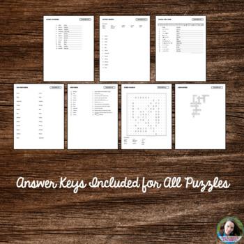 Saint Ignatius of Loyola Word Puzzles - No Prep Catholic Activity