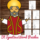 Saint Ignatius of Loyola Word Puzzles - No Prep Catholic Activity