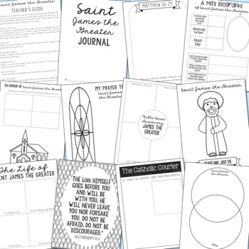 Saint James the Greater Notebook Journal Project, Catholic Resources