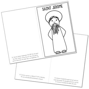 Saint Jerome Biography Mini Book in 3 Formats, Catholic Resource