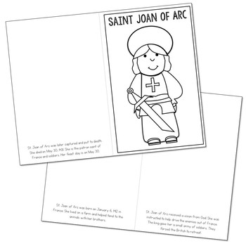 Saint Joan of Arc Biography Mini Book in 3 Formats, Catholic Resource