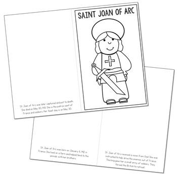 Saint Joan of Arc l Mini Book in 3 Formats, Catholic Resource