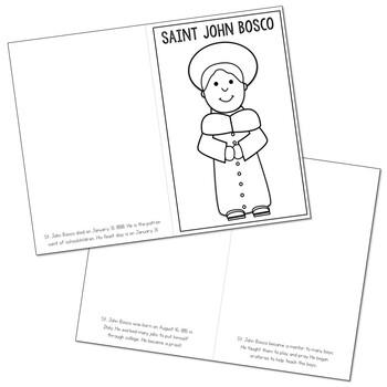 Saint John Bosco l Mini Book in 3 Formats, Catholic Resource