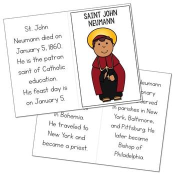 Saint John Neumann l Mini Book in 3 Formats, Catholic Resource