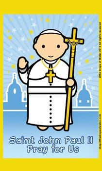 Saint John Paul II Flash Card