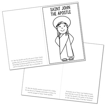 Saint John the Apostle Biography Mini Book in 3 Formats, Catholic Resource