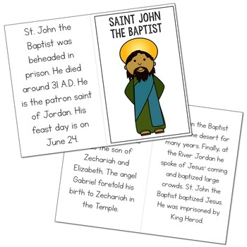 Saint John the Baptist l Mini Book in 3 Formats, Catholic Resource
