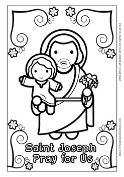 Saint Joseph Coloring - Catholic