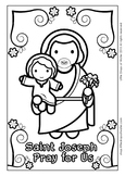 Saint Joseph Coloring - Catholic