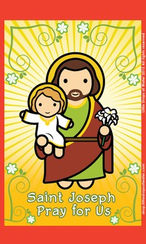 Saint Joseph Flash Card