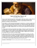 Saint Joseph Saint of the Day Worksheet