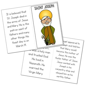 Saint Joseph l Mini Book in 3 Formats, Catholic Resource