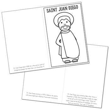 Saint Juan Diego Biography Mini Book in 3 Formats, Catholic Resource
