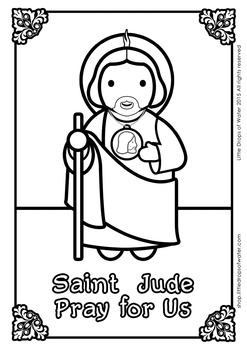 Saint Jude Coloring - Catholic
