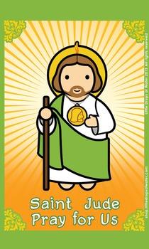 Saint Jude Flash Card