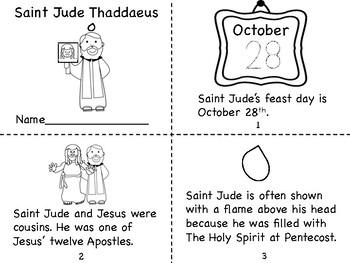 Saint Jude Thaddeus Mini Book and Prayer Page