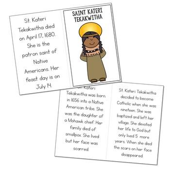 Saint Kateri Tekakwitha l Mini Book in 3 Formats, Catholic Resource