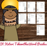 Saint Kateri Tekawitha Word Puzzles - No Prep Catholic Activities