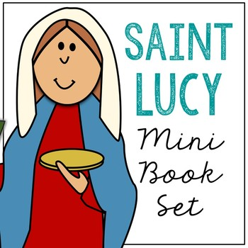 Saint Lucy Biography Mini Book in 3 Formats, Catholic Resource