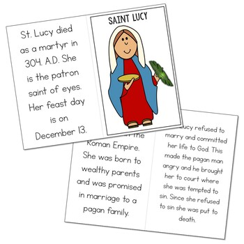 Saint Lucy l Mini Book in 3 Formats, Catholic Resource