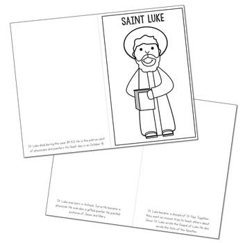 Saint Luke Biography Mini Book in 3 Formats, Catholic Resource