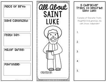 Saint Luke Research Brochure Project with Interactive Notebook Pockets