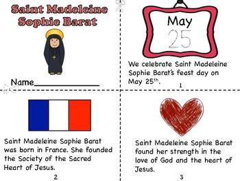 Saint Madeleine Sophie Barat Mini Book and Prayer Page