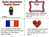Saint Madeleine Sophie Barat Mini Book and Prayer Page