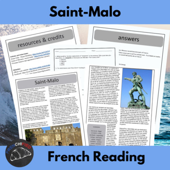 Saint-Malo: Ville Corsair.  Reading and activities for intermediate/adv. French