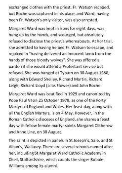 Saint Margaret Ward Handout