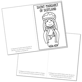 Saint Margaret of Scotland l Mini Book in 3 Formats, Catholic Resource