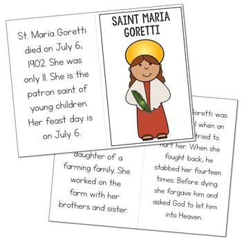 Saint Maria Goretti Biography Mini Book in 3 Formats, Catholic Resource