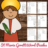 Saint Maria Goretti Word Puzzles - No Prep Catholic Activities