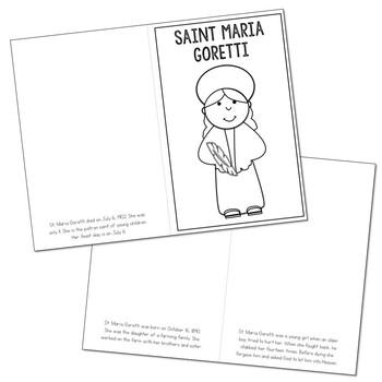 Saint Maria Goretti l Mini Book in 3 Formats, Catholic Resource