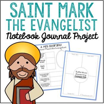 Saint Mark the Evangelist Notebook Journal Project, Christian Resources