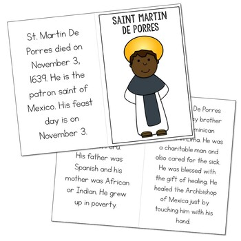 Saint Martin De Porres l Mini Book in 3 Formats, Catholic Resource