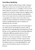 Saint Mary MacKillop Handout