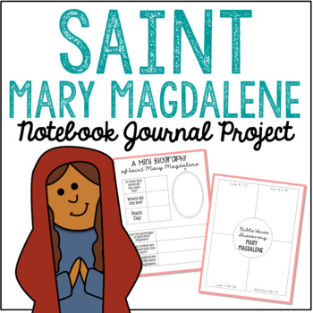 Saint Mary Magdalene Notebook Journal Project, Catholic Resources
