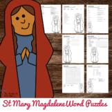 Catholic Saint Word Puzzles - No Prep Catholic Activities - St Mary Magdalene