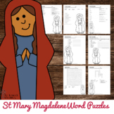 Saint Mary Magdalene Word Puzzles - No Prep Catholic Activities