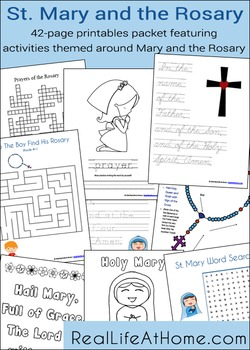 Saint Mary and the Rosary Activity Packet