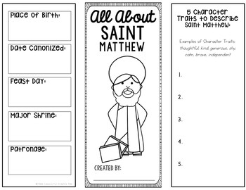 Saint Matthew Research Project with Interactive Notebook Pockets