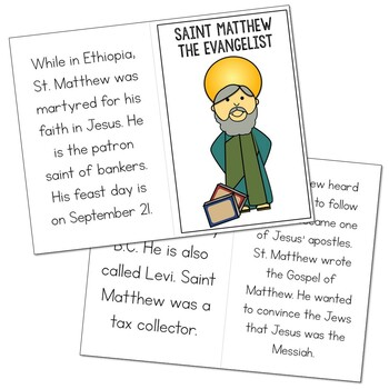 Saint Matthew l Mini Book in 3 Formats, Catholic Resource