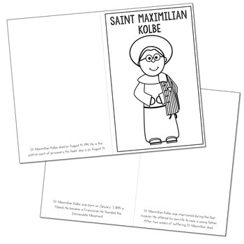 Saint Maximilian Kolbe Biography Mini Book in 3 Formats, Catholic Resource