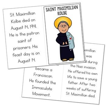 Saint Maximilian Kolbe l Mini Book in 3 Formats, Catholic Resource